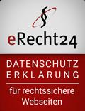 Siegel e-Recht24 Datenschutzerklärung